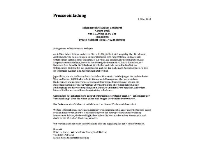 Referenzen Stadt Bottrop Text