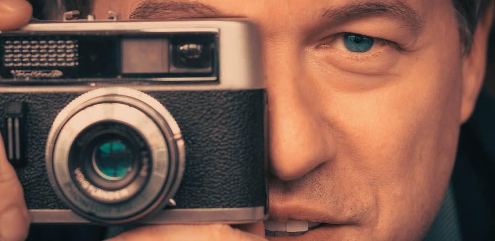 Selfie mit Oldie Kamera