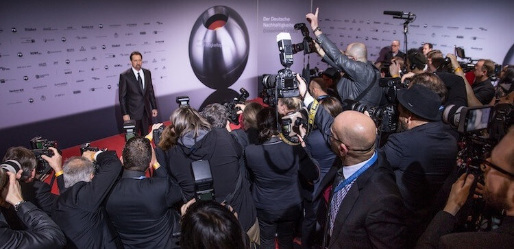Nicolas Cage beim Nachhaltigkeitspreis 2016